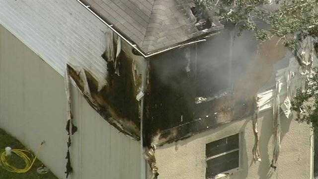 Fire crews were called to a house fire on Pebble Court in Deltona on Thursday.