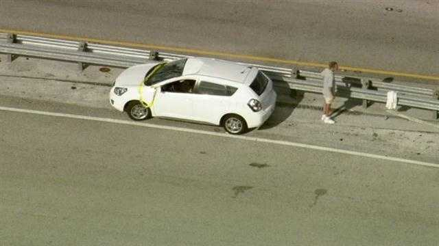 Officials in Orange County said a runaway tire is to blame for an accident on Florida's Turnpike.