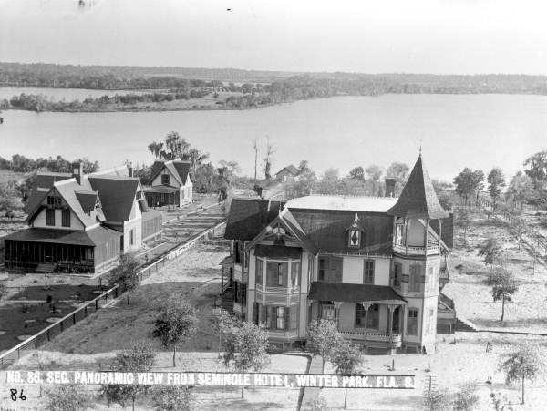 1800s - The Richard Neal Batchelor home as seen from the Seminole Hotel