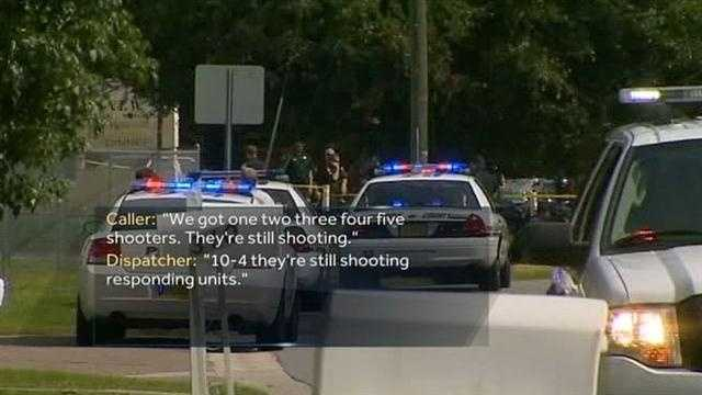 Investigators have released the emergency calls to 911 made immediately after a deadly shooting between the members of two biker clubs.