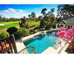 The property features not only a fabulous water view, but also a golf front view as well.