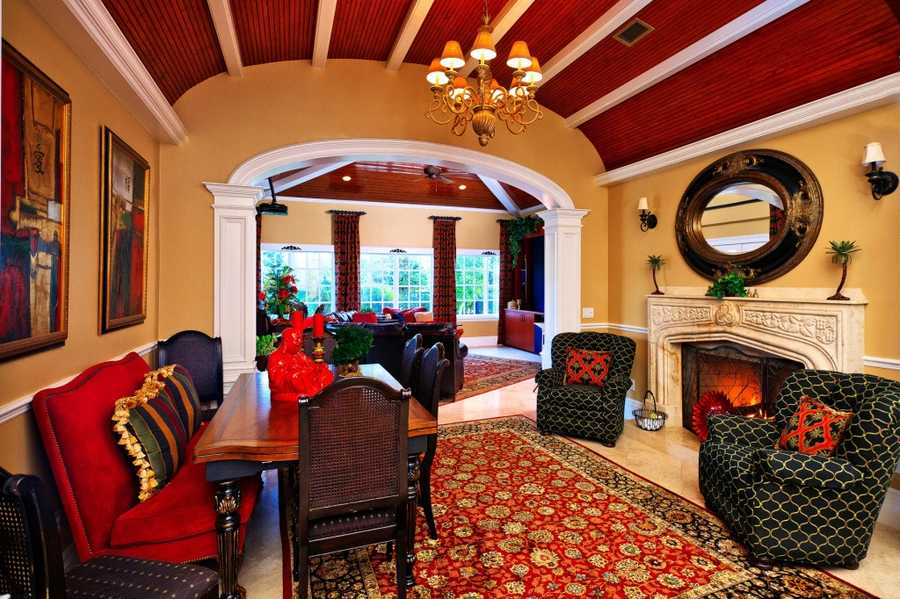 """As elaborate as the property is, the mansion still maintains the """"homey"""" feeling you'd want to come home to."""