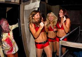 The cheerleaders toured the new houses, Blood Asylum and Circus of Superstition 3-D.