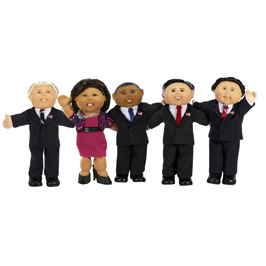 President Barack Obama and presidential candidate Mitt Romney have been recreated as collectible Cabbage Patch Kids that will be auctioned.