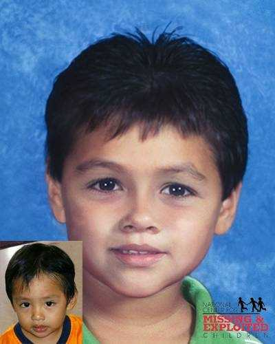 Carlos Ventura-Santos, age now 8: Missing from La Belle. Carlos's photo is shown age-progressed to 4. They are believed to be in the company of their mother, Evangelina Santos. A felony warrant is on file for the companion. They may also be traveling in the company of an adult male. They may have left the country and traveled to Mexico.