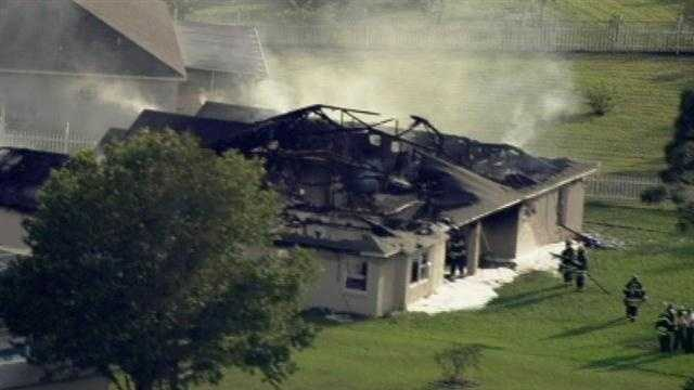 Rescue crews were called to a house fire on 123 Carlisle Court in Poinciana Tuesday afternoon.