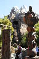 The frightful image can be found at Disney's Animal Kingdom near the Expedition Everest attraction.  It's easy to miss, so pat yourself on the back if you got it right.
