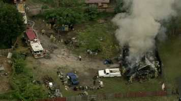 The Orange County Fire Department worked to contain a mobile home fire Wednesday afternoon.