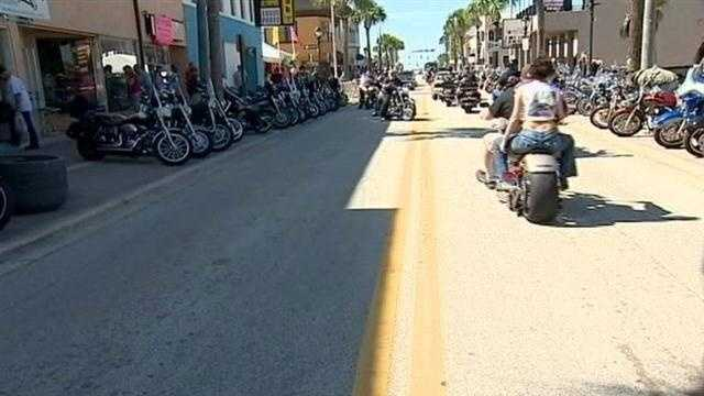 That familiar sound of thunder is rumbling again in Daytona Beach as Biketoberfest kicked off Thursday morning.