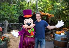 """""""Glee"""" star Matthew Morrison visited the Disneyland park over the weekend for an early celebration of his October 30 birthday. Morrison said he loves what the parks do during Halloween and was excited to ride The Twilight Zone Tower of Terror for the first time."""