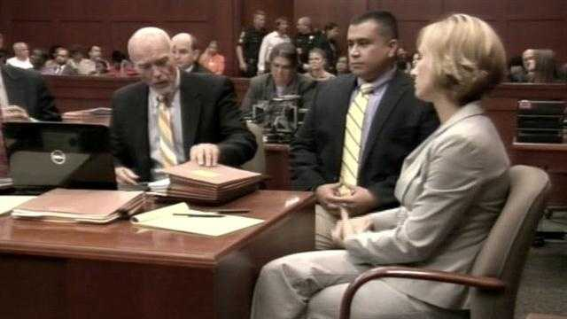 George Zimmerman appeared in court at a hearing Friday.