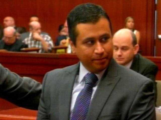 George Zimmerman's second bond hearing in June 2012.
