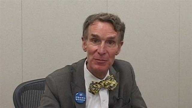 "Bill Nye, known for his television show as ""The Science Guy,"" was in Brevard County Tuesday."