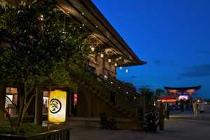 Did you know the symbol is one of the family mon found on the lanterns at the Japan Pavilon at Epcot? The mon were used as emblems, crests or coat of arms in ancient Japan. And those three layers of pine trees are a symbol of long life and good fortune.