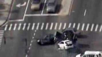 Chase ends with T-bone crash: A chase through Orange County came to an abrupt end with a serious crash. Chopper 2 captured the incident live on air. Watch the video.