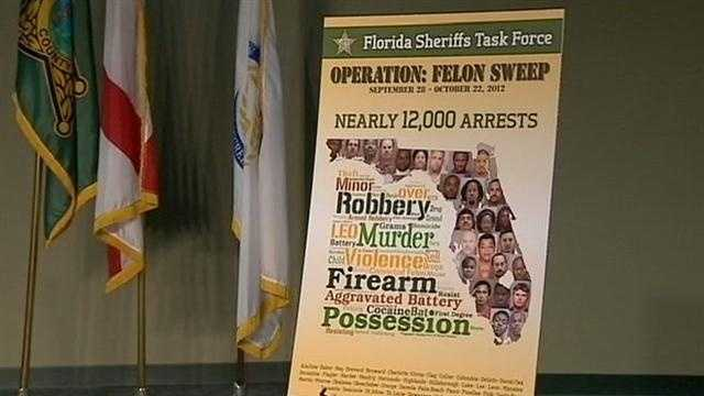 Orange County Sheriff Jerry Demings announces the arrests of 962 people.