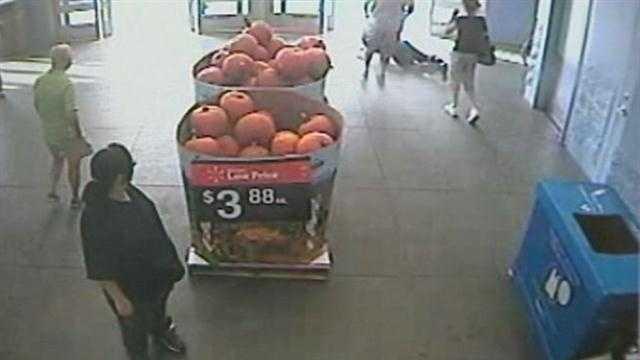 Walmart shoplifting suspect knocks employee to ground