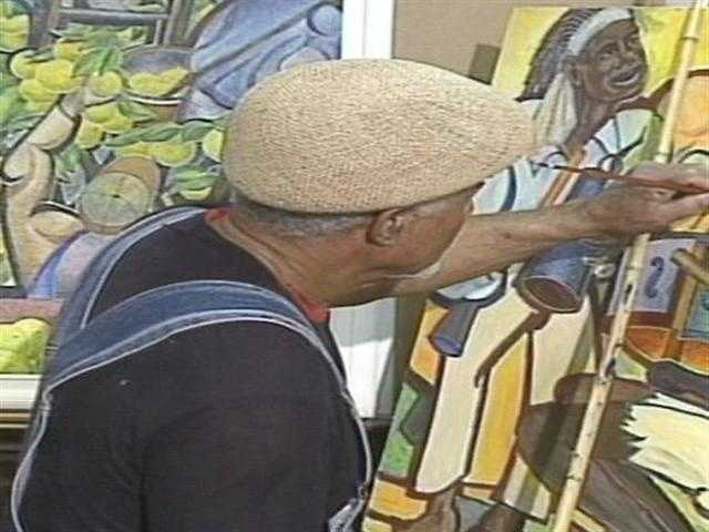 A DeLand man practices a style of painting that's Just Wright. Watch the story