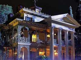 6. The Haunted Mansion at Disneyland in Anaheim, CA.