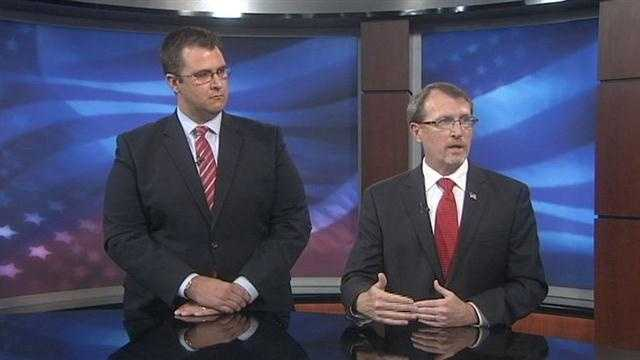 The two men who hope to be the top prosecutor in Brevard and Seminole counties faced off today in a debate.