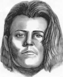 Jane Doe, killed in Dec. 2003Florida Department of Law Enforcement:On 12-30-03, the unidentified remains of a Caucasian female, approximately 25 to 35 years of age were located on Taylor Creek Road north of S.R. 520 in Orange County, FL. Authorities advise the victim had shoulder length brownish/auburn hair, pierced ears and crooked front teeth. Detectives believe the victim had been deceased for more than 30 days when found. Pictured is a forensic artist skull reconstruction drawing of the victim. Also pictured are pieces of jewelry detectives located at the scene believed to be the victims.Any agency with information leading to the identity of the unidentified female is asked to contact Det. Tim Farmer, Orange County Sheriff's Office, 2500 West Colonial Drive, Orlando, FL 32804, (407) 254-7000, ext.