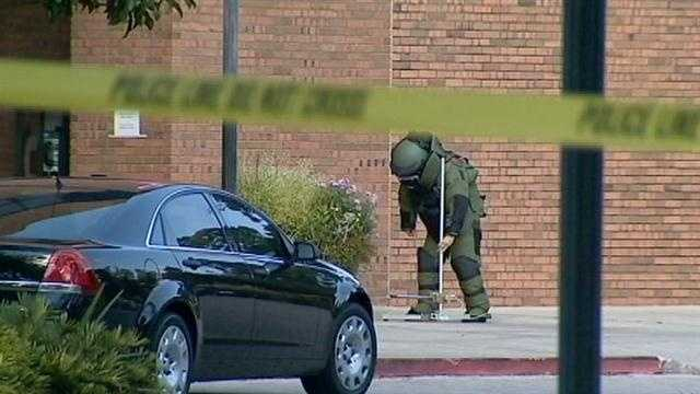 Suspicious Package detonated at polling site, nobody injured.