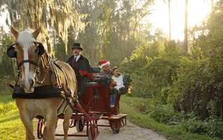 10. Sleigh rides at Fort Wilderness.  In December, sleigh rides will be offered nightly as a special treat through the secluded area around Disney's Fort Wilderness Resort & Campground.