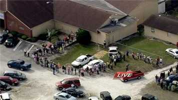 Chopper2 flew over the line at the Elks Lodge off Goldenrod Road.
