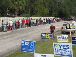 Voters in Seminole County wait to vote.