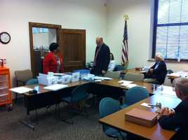 Volusia County canvassing board verifies absentee ballots.
