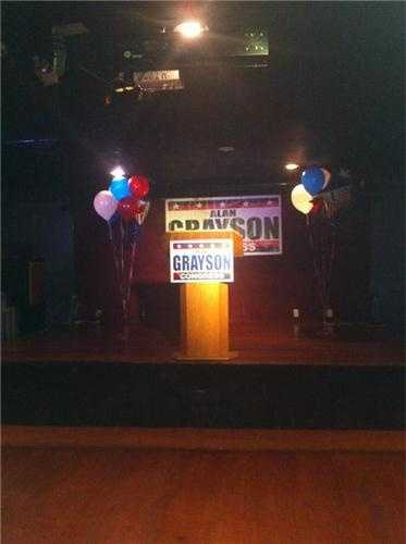 Alan Grayson for Congress Victory Party.