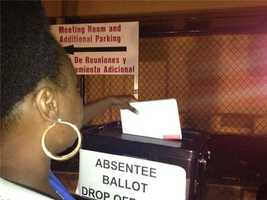 Last minute absentee ballot drop offs at Orange County Supervisor of Elections Office.