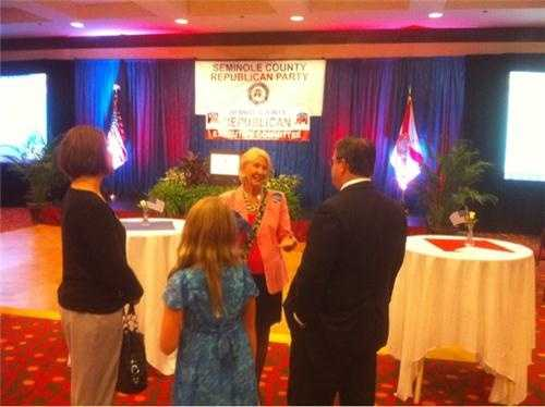 Early arrivals at the Orange/Seminole County Victory Party for local Republicans.