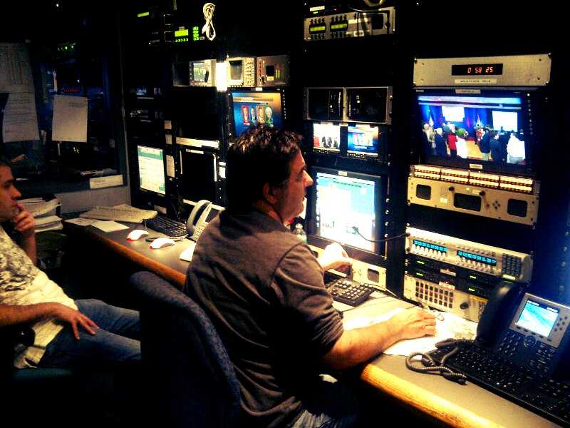 WESH's satellite coordinator Pat Gribbin monitors live feeds from all over Central Florida, and the nation.