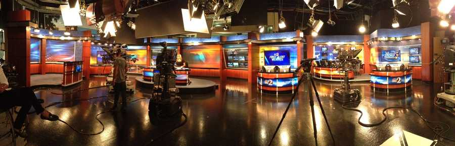 Here's a panoramic view of the studio.