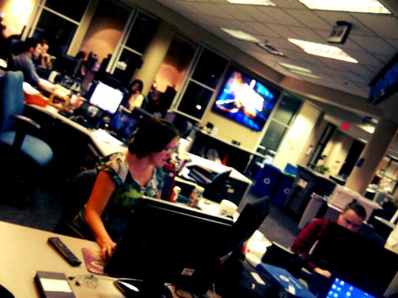 Our producers work to get the latest information on air.