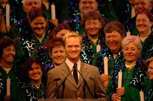 4. Candlelight Processional at Epcot. The event combines season music with a reading of the Christmas story by a celebrity narrator. The reading is accompanied by a mass choir and live orchestra preforming seasonal songs nightly between Nov. 28 and Dec. 30. Celebrities scheduled to appear are Neal Patrick Harris, Ashley Judd, Gary Sinise, Whoopi Goldberg, Sigourney Weaver and Trace Adkins to name a few.