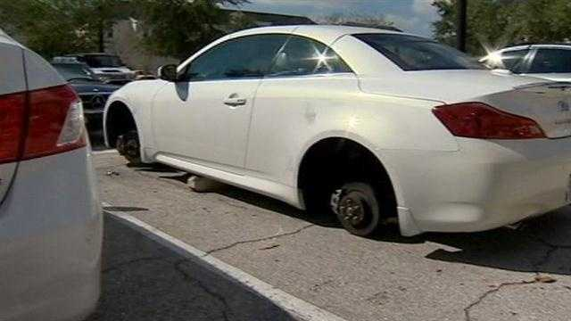 Wheels are coming up missing from an upscale Orange County neighborhood.