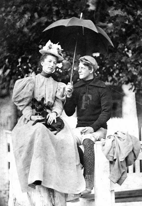 A Monticello couple is photographed together on August 15, 1897.