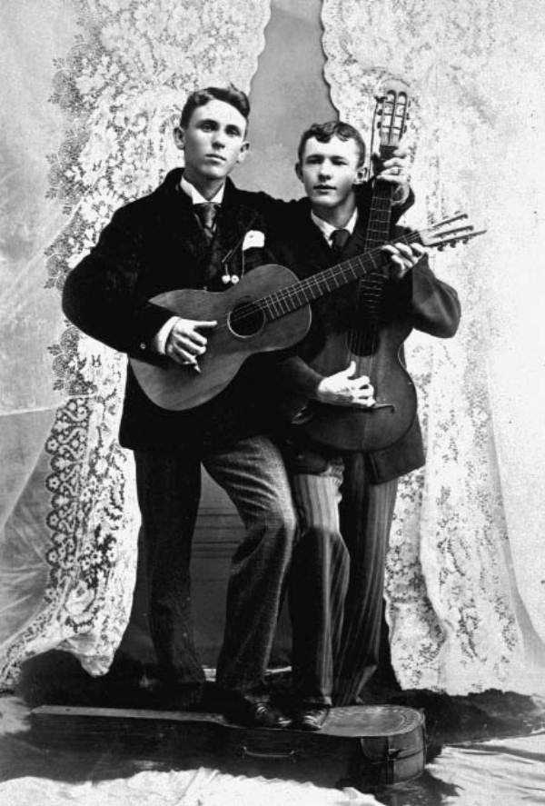 Brothers Frank and Joe Hoover in the early 1900s.
