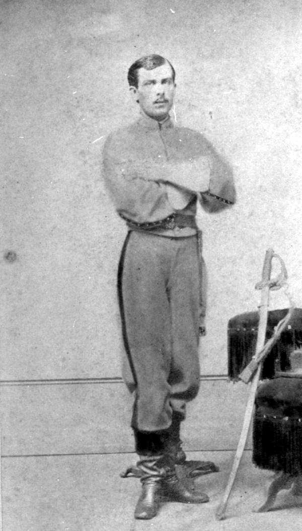 Confederate officer A. Livingston was photographed in Madison during the 1800s.