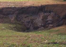 Padfield said it appears the sinkhole will cost him $20,000 to $30,000 to fix.
