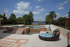 Lush landscape allows for privacy as you soak in the jacuzzi or swim in the pool.