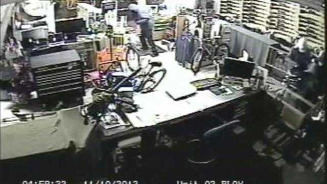 A surveillance camera caught video of a robbery in Orlando.