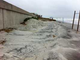 Nor'easter conditions are hammering the coast which already took a hit from Hurricane Sandy last month.