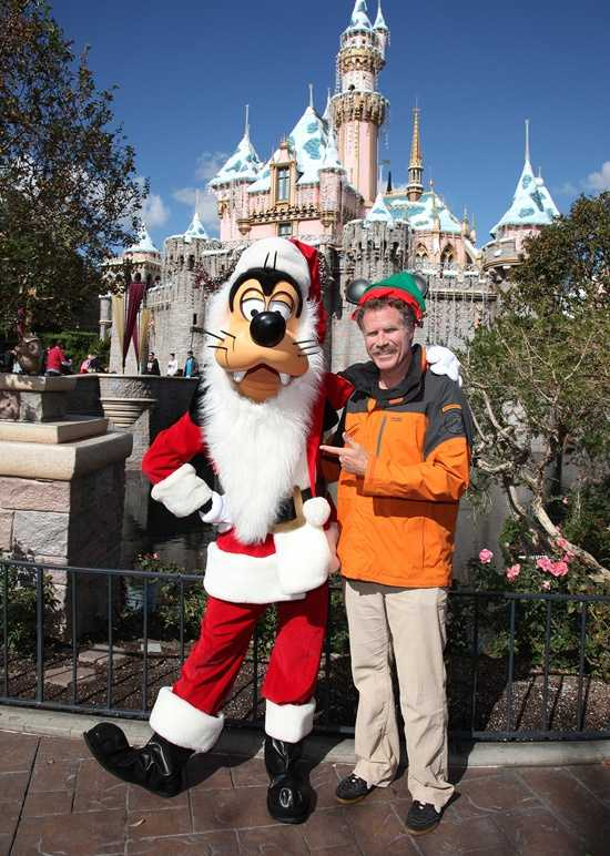 "Santa Goofy and the original ""Elf"" Will Ferrell hung out at the Disneyland park recently.  Ferrell and his children rode attractions including ""it's a small world,"" Mr. Toad's Wild Ride and Mad Tea Party.  ""I'm forcing them to appreciate the original parts of Disneyland,"" Ferrell joked, saying he wanted them to experience the park the way he did as a child. ""I've been coming to Disneyland since I can remember."""