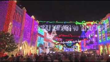 The Osborne Family Spectacle of Dancing Lights is held on the Streets of America at Disney's Hollywood Studios.