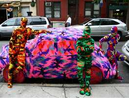 Crochet Artist- Brooklyn-based artist Olek spends hundreds of hours covering cars and even people in crochet.