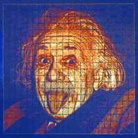 Einstein Toast- British artist Adam Sheldon uses toast for his media&#x3B; this portrait of Albert Einstein is pure genius!