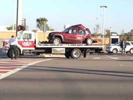 A police pursuit ends in a crash near Evans High School.